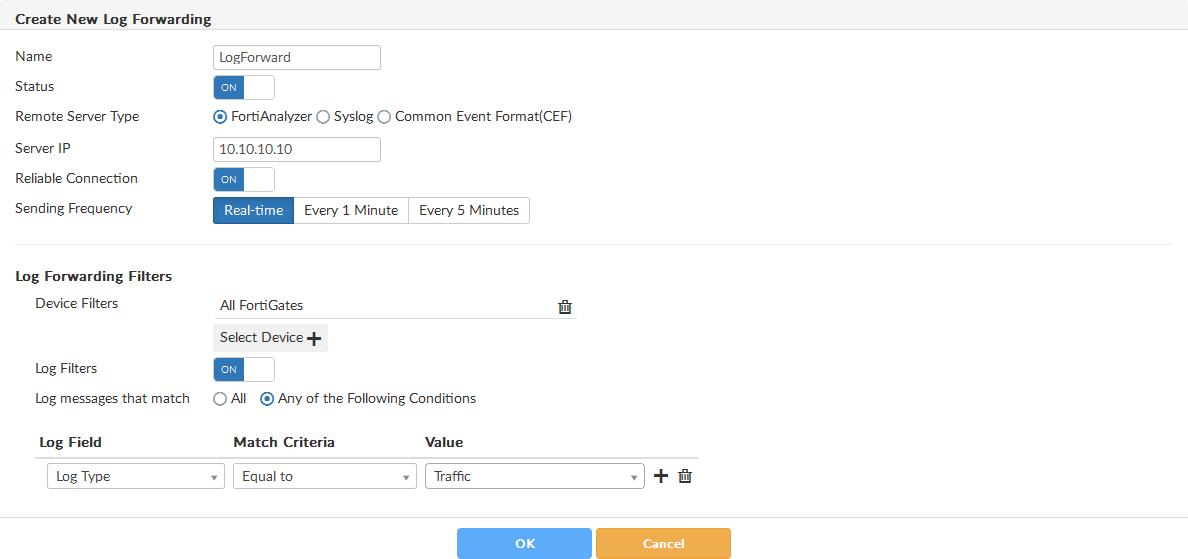 Configuring log forwarding