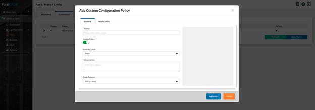 Configure policies