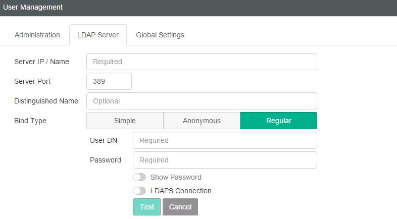 Configuring User Management