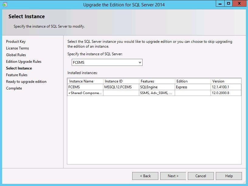 Upgrading Microsoft SQL Server Express to Microsoft SQL