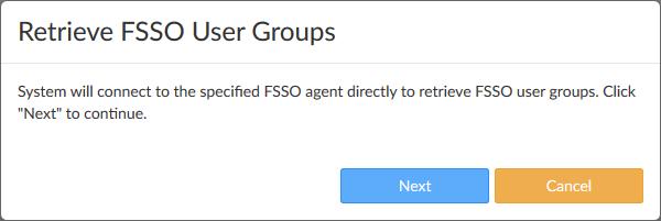FSSO user groups