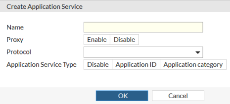 Create or edit an application service