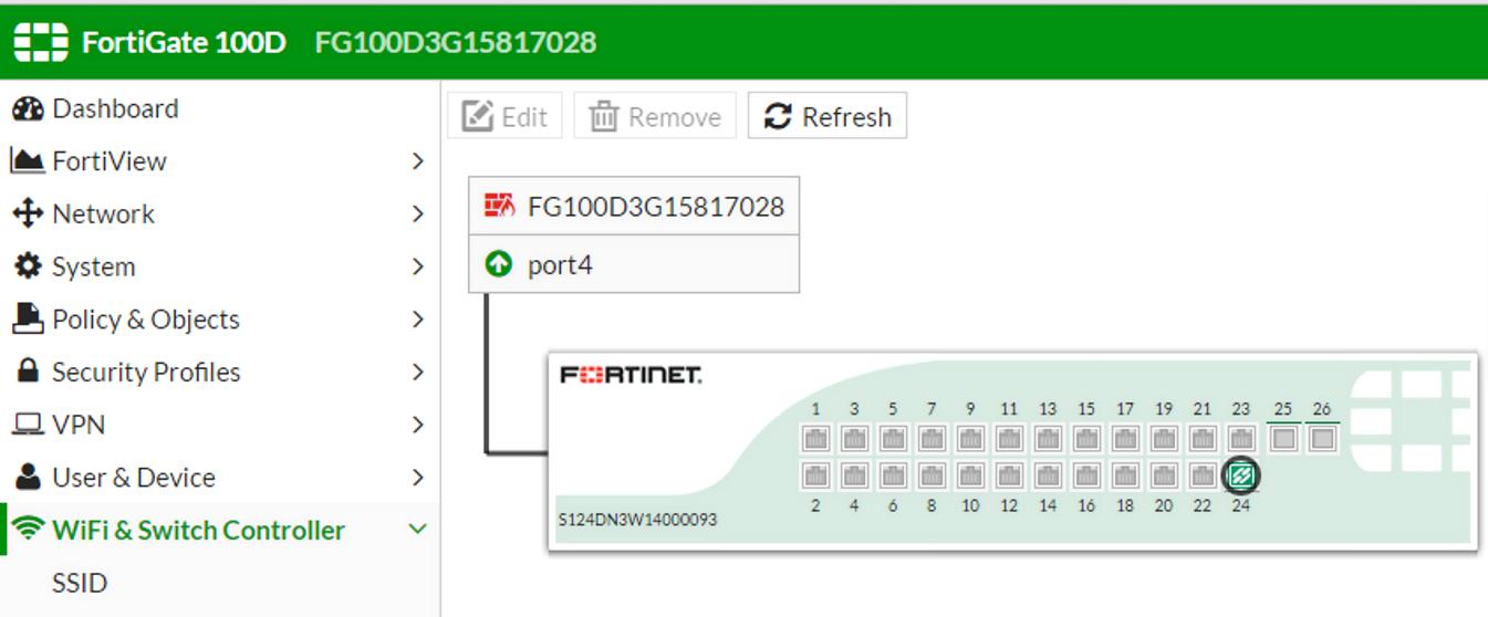 FortiLink Configuration Using FortiGate GUI