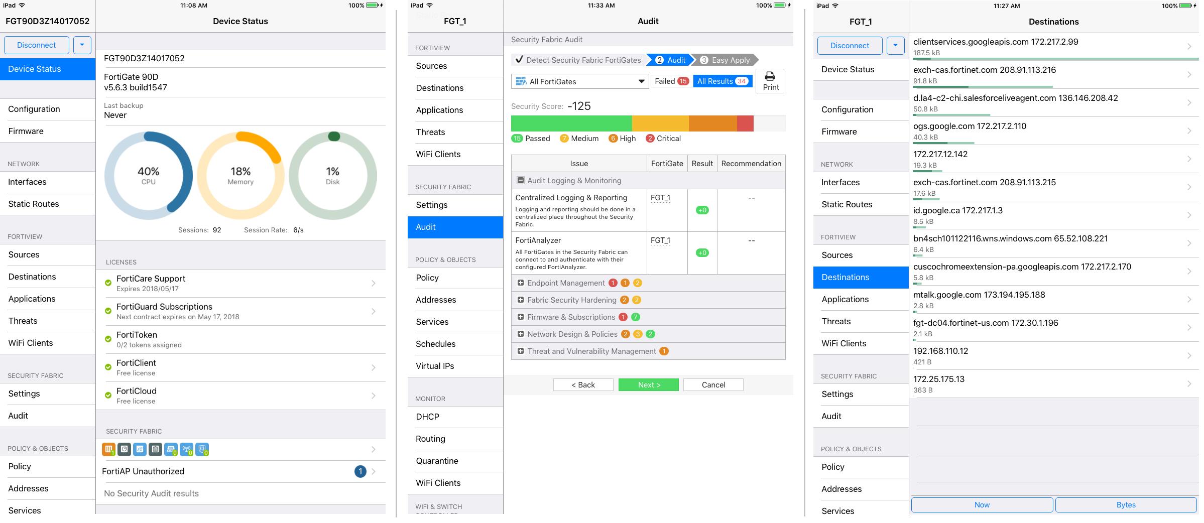 FortiExplorer for iOS