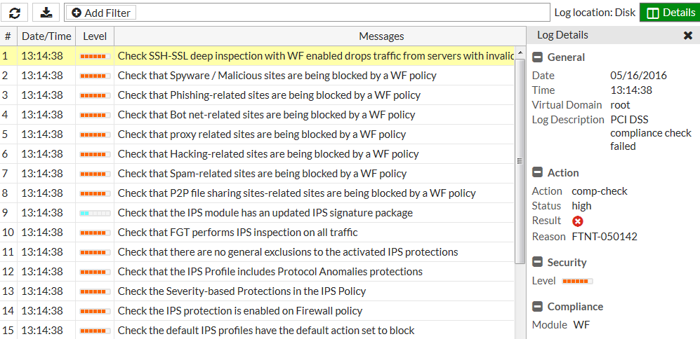 Configuring FortiGate units for PCI DSS compliance