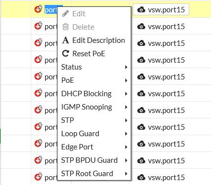 FortiLink configuration using the FortiGate GUI