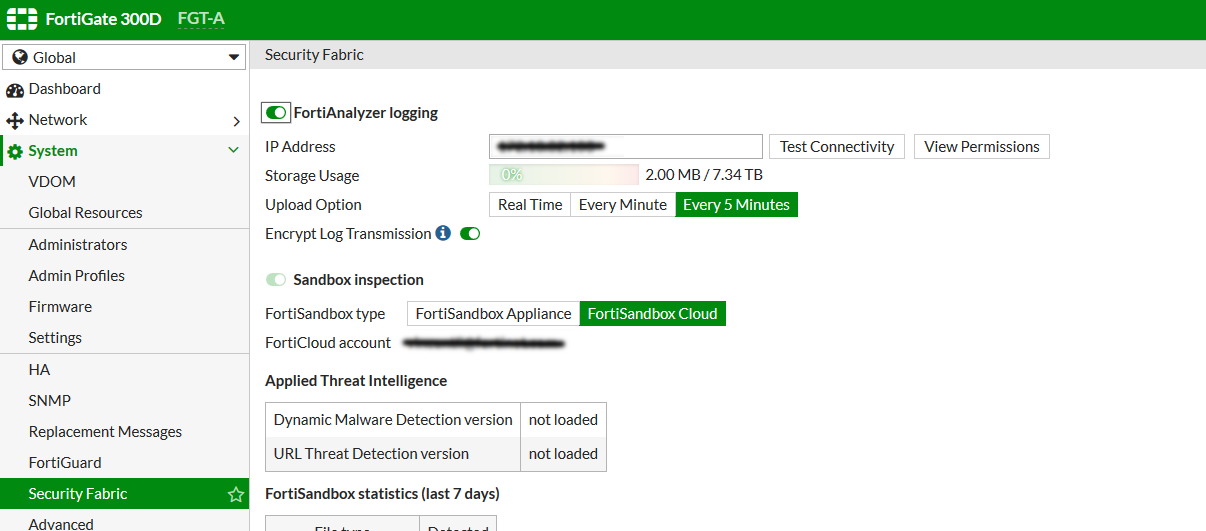 Real time logging to FortiAnalyzer and FortiCloud
