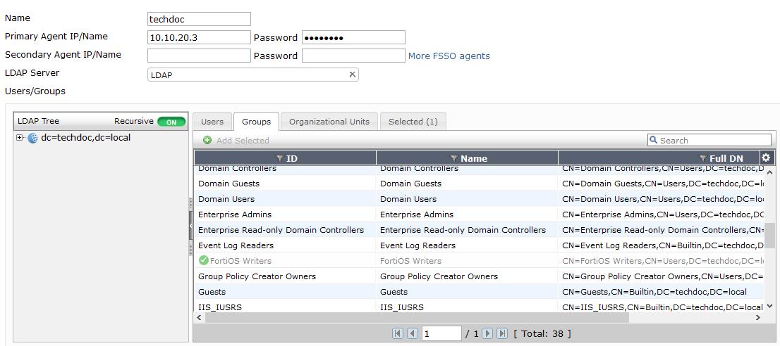 Agent-based FSSO