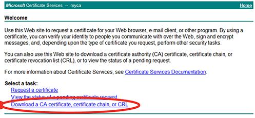 Uploading trusted CAs' certificates