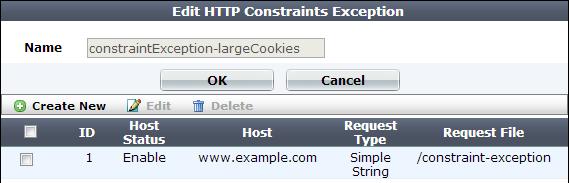 HTTP/HTTPS protocol constraints