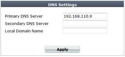 Configuring DNS settings