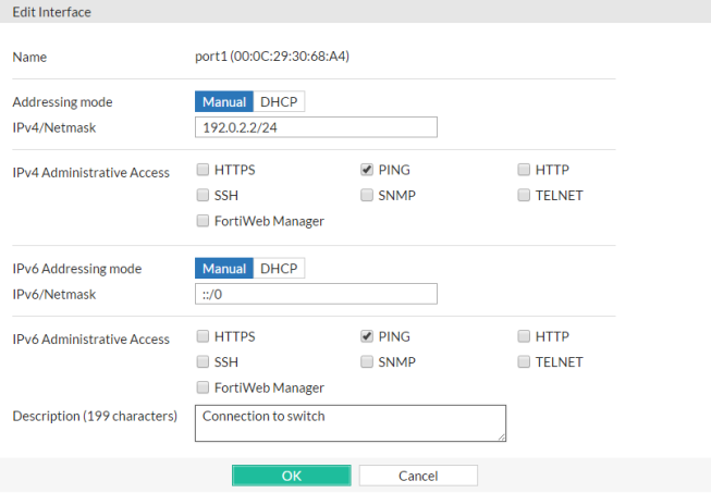 Configuring the network settings